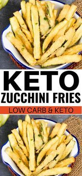 Keto zucchini fries made with almond flour for keto and low carb diets These ke