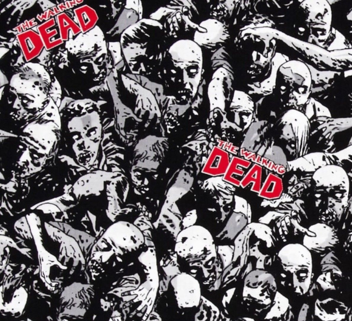gbp the walking dead cotton fabric by quarter metre w