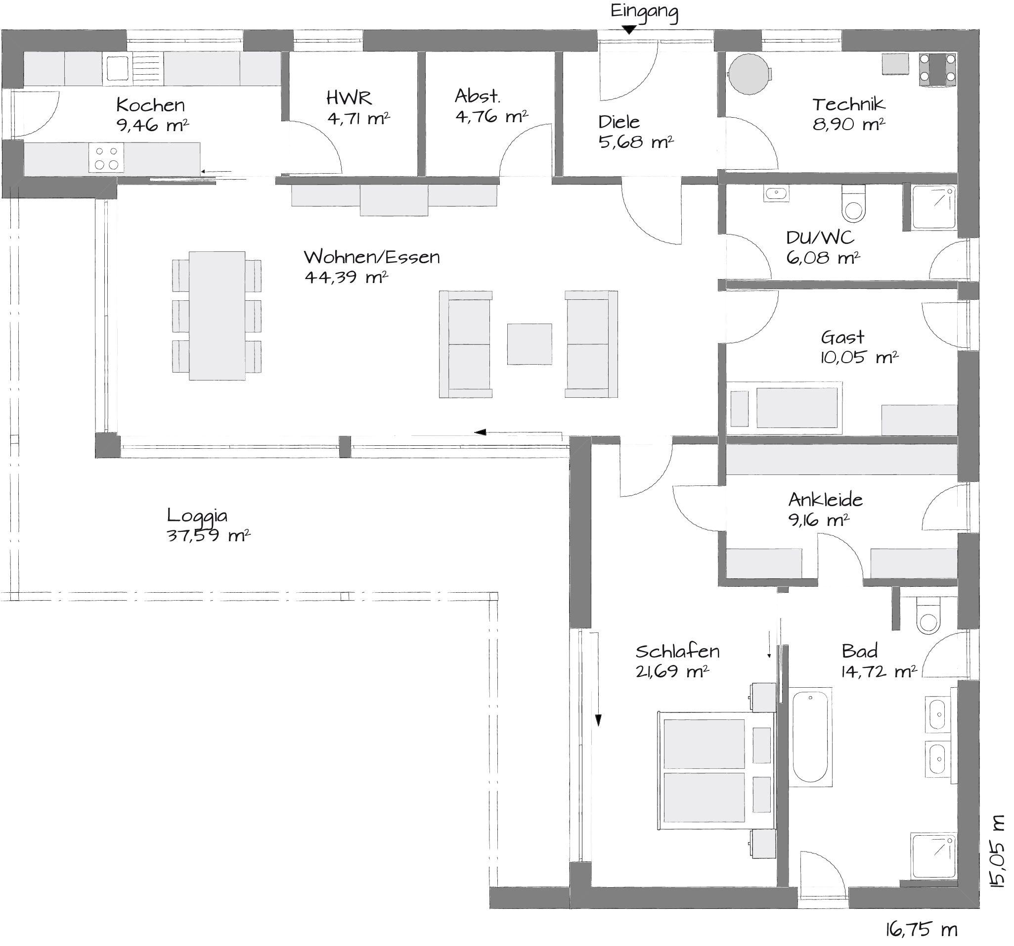Neubau Einfamilienhaus Flachdach: Moderne Bungalow Met Platdak