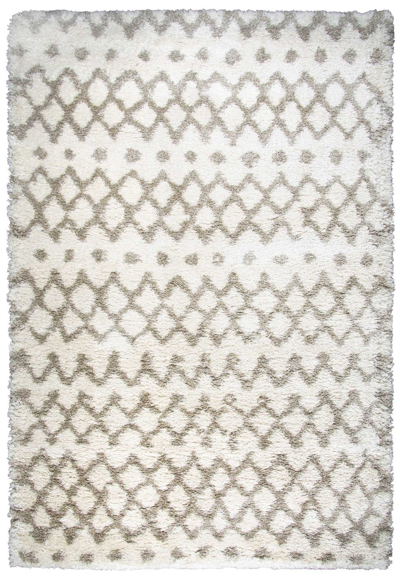 Matias Cream Shag Area Rug