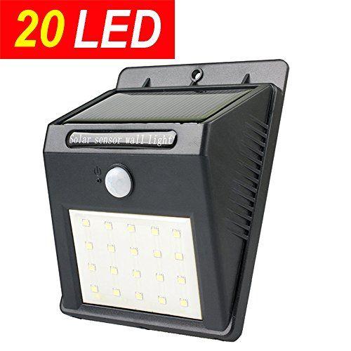 Bright Outdoor Solar Lights 20Led Upgraded Super Bright Sogrand Solar Motion Sensor Light Solar