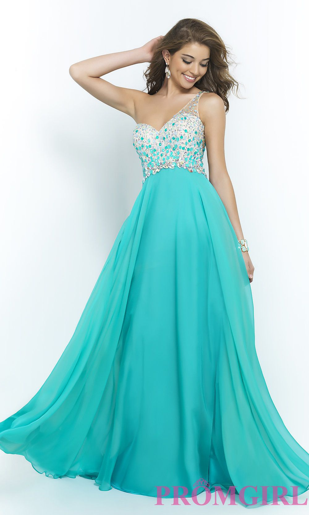 Image of One Shoulder Prom Dress by Blush 9965 Style: BL-9965 Detail ...