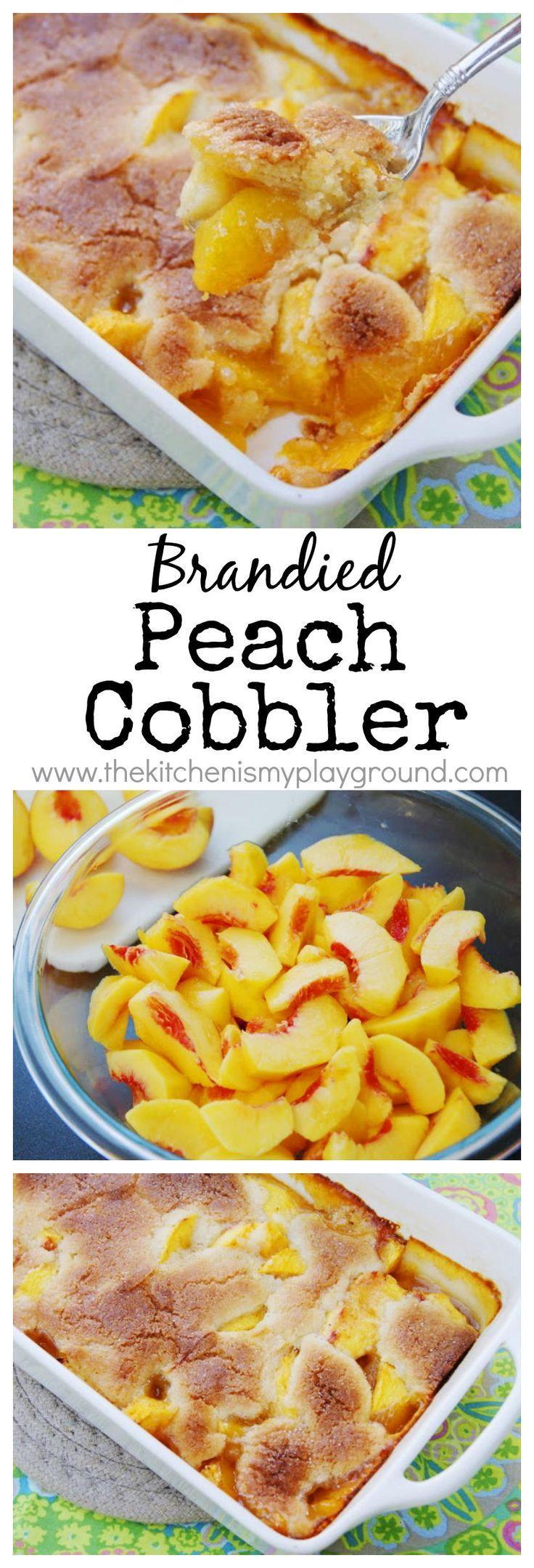 Brandied peach cobbler the absolute best peach cobbler