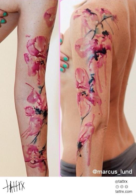 watercolor flower sleeve tattoo - Google Search | TATTOOS ...