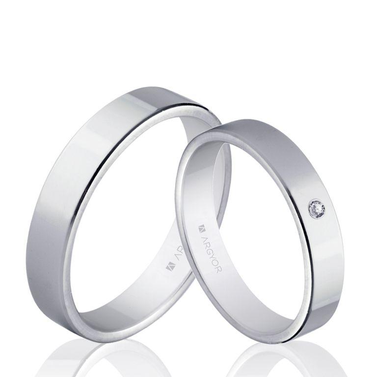 Alianza Oro Blanco Clásica Plana 5b40150 Argyor Talla 7 Metal Oro 18k Engagement Rings For Men Wedding Rings Couple Wedding Rings