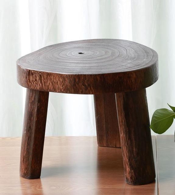 Awe Inspiring Japanese Antique Wooden Round Stool Paulownia Wood Small Beatyapartments Chair Design Images Beatyapartmentscom