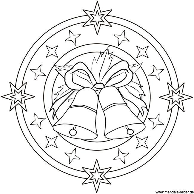 Mandala Vorlage Mit Glocken Ausmalbild Zu Weihnachten Ausmalbilder Weihnachten Weihnachtsmalvorlagen Ausmalen
