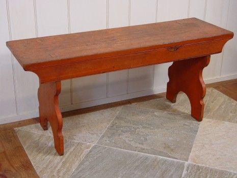 'Best' Morticed Bench (SOLD)   Olde Hope Antiques