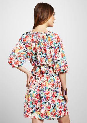 ELIZA J Floral Print Blouson Dress