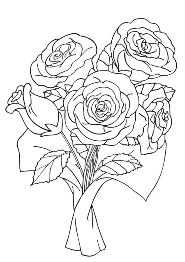 10 Beautiful Rose Flower Coloring Pages Printable For Kids 1000 Free Printable Coloring P Rose Coloring Pages Flower Coloring Pages Valentine Coloring Pages