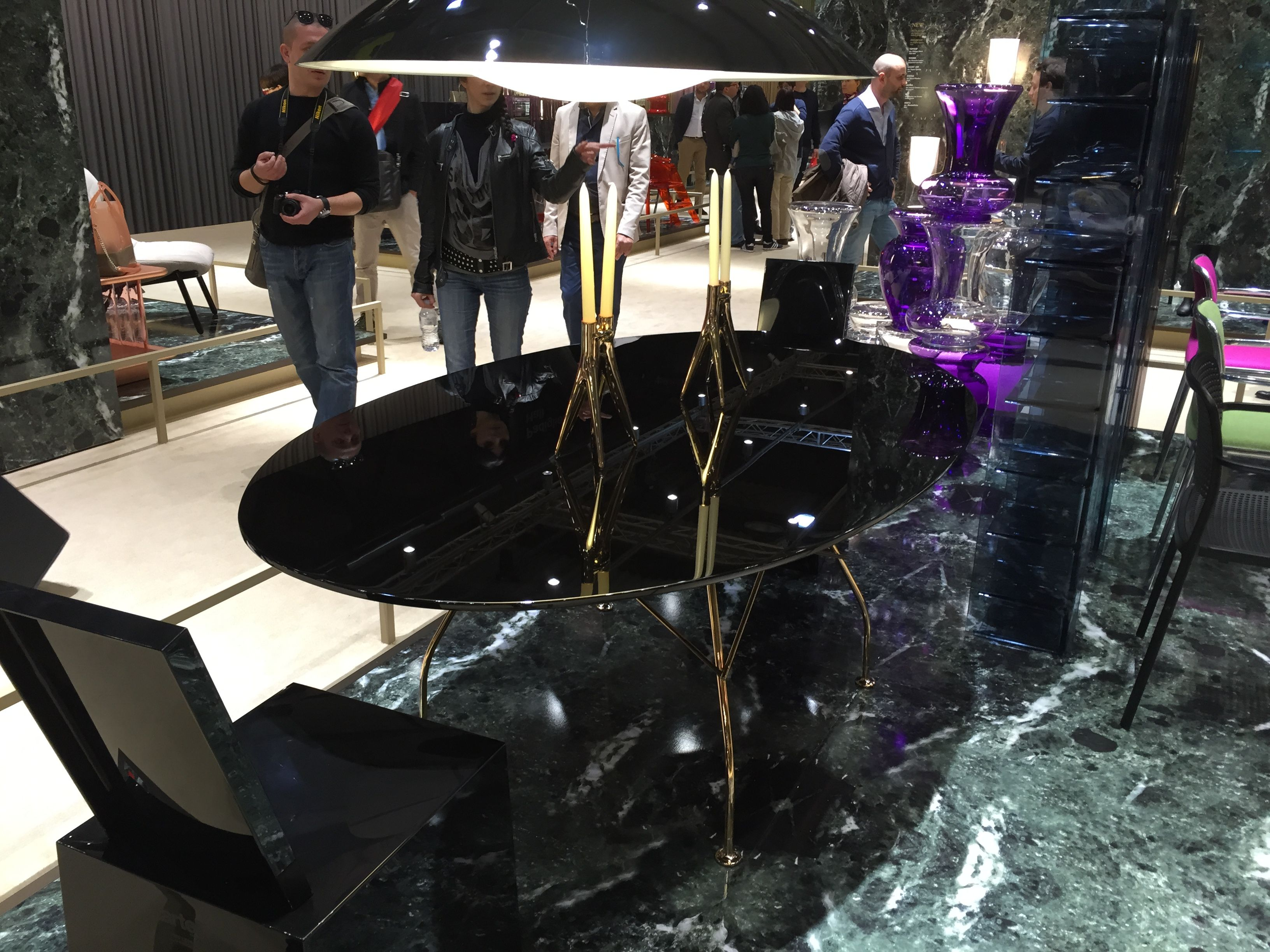 Isaloni2015 #kartell tavolo glossy salone del mobile 2015 pinterest