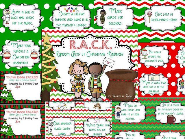 Kindergarten Random Acts of Christmas Kindness (R.A.C.K.) Unit FREEBIE!