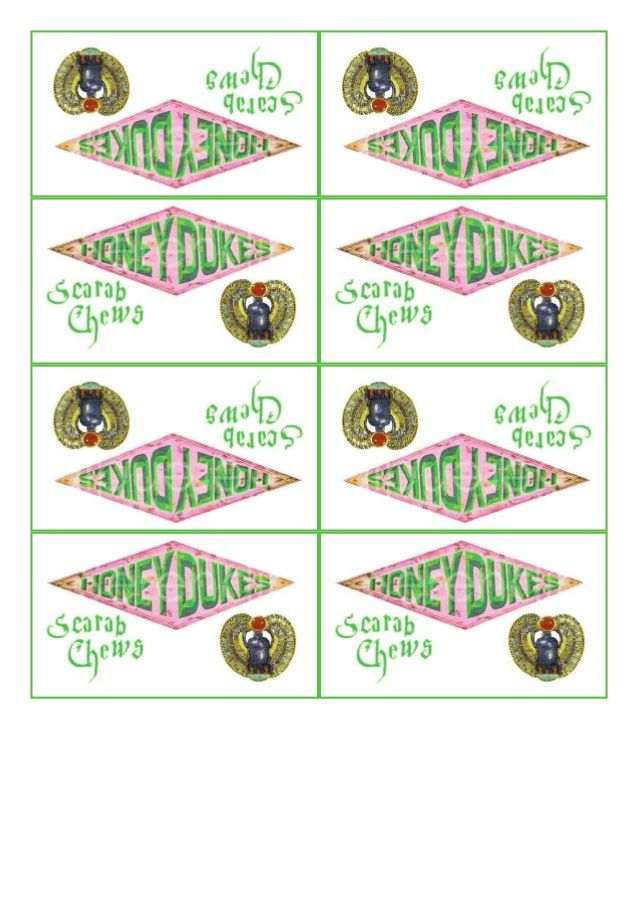This is a graphic of Wild Honeydukes Free Printable Labels