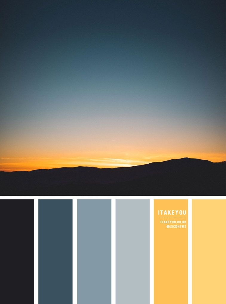 Dusty Blue and Yellow Color Palette