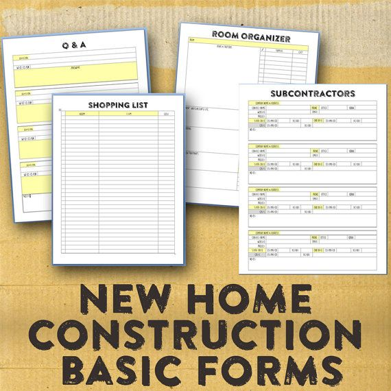 New Home Building Organizer New Home Construction Forms Etsy New Home Construction Building A House Home Construction
