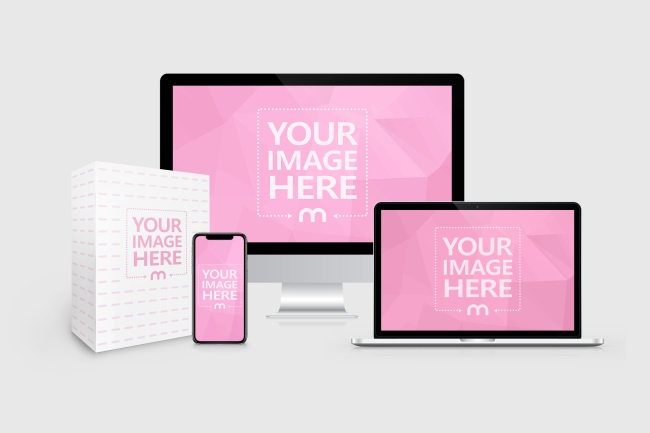 Easily Place Your Own Product Images Into This Mockup And Promote Your E Course Website Or Digital Product The Template Featur Logo Mockup Online Logo Mockup