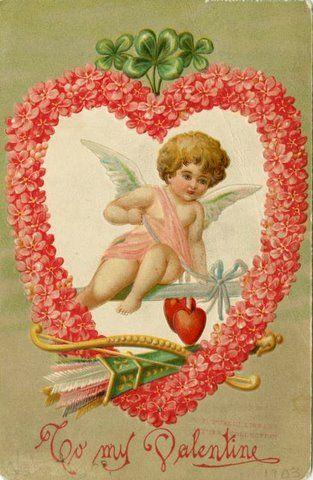 Token Love Victorian Valentine Fabric Quilt Block Multi Sizes