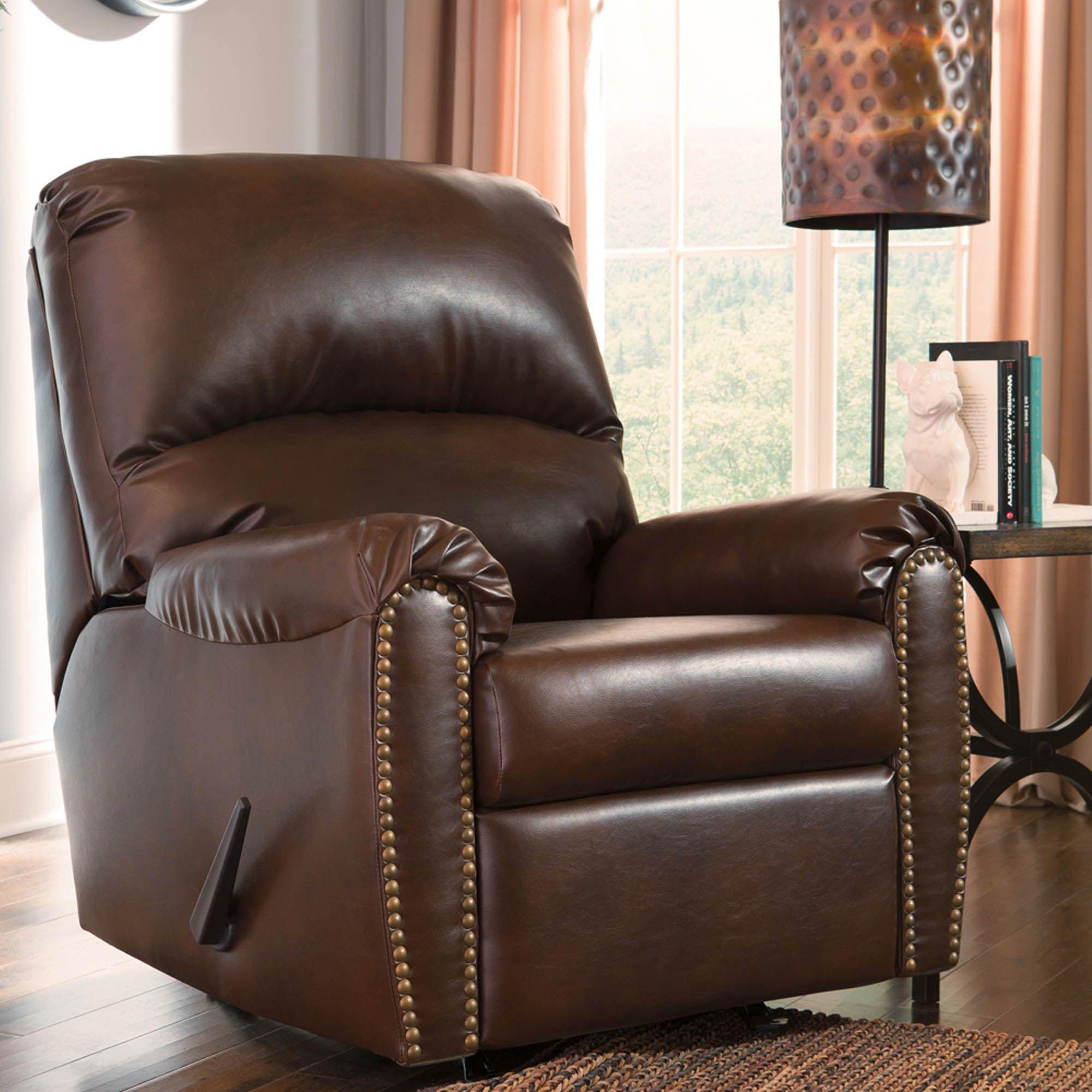 Lottie chocolate rocker recliner rocker recliners