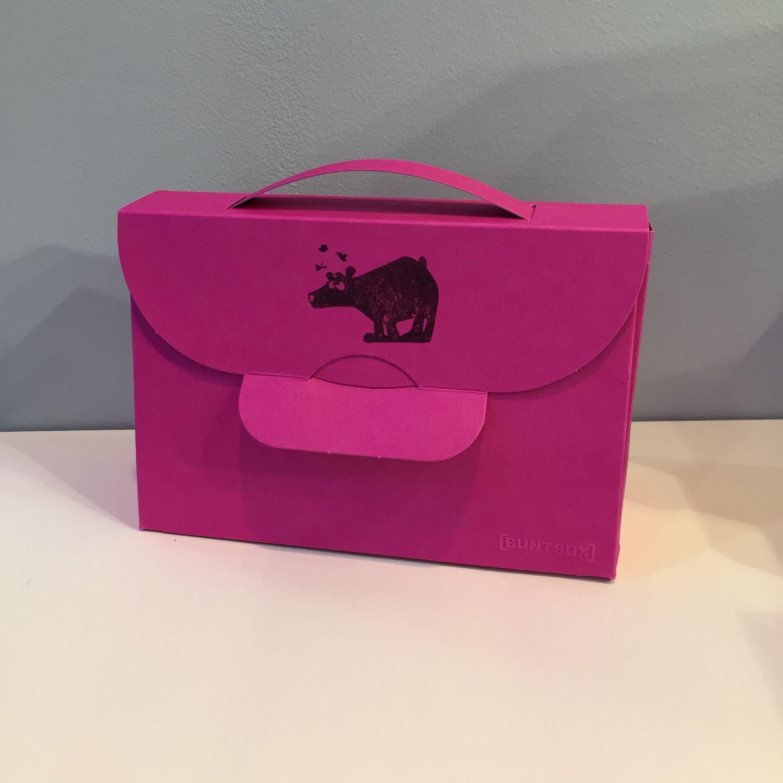 Bear stamp on Buntbox Handbag gift box
