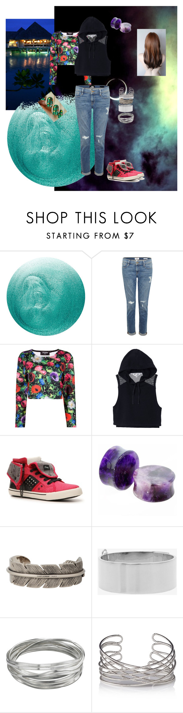 Styx by smthin0-0diffrnt on Polyvore featuring Victoria's Secret, Frame Denim, Pastry, Eddie Borgo, Whistles, Yves Saint Laurent and Deborah Lippmann