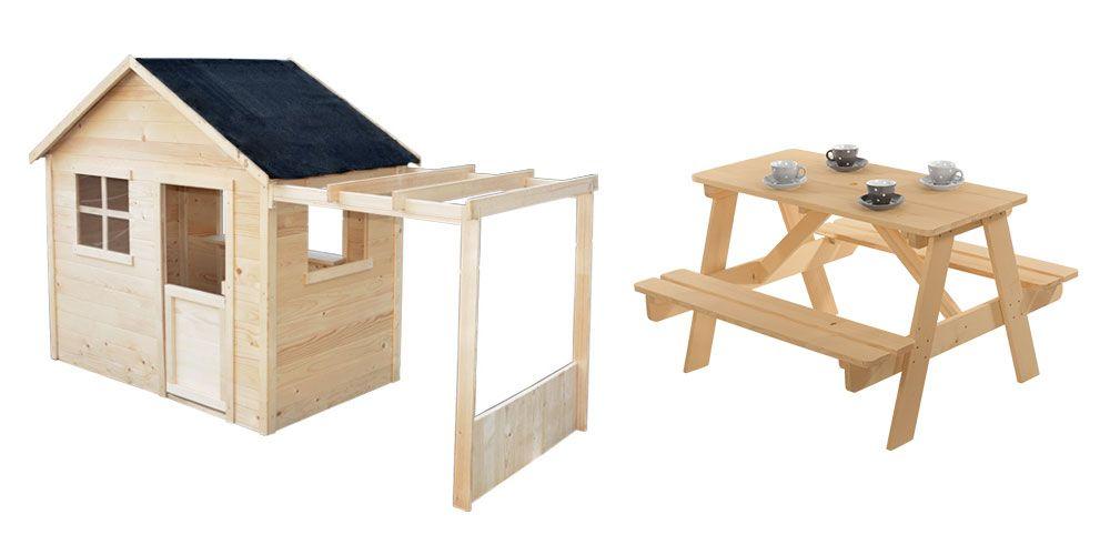 Maisonnette en bois Emma avec table pique-nique Pique