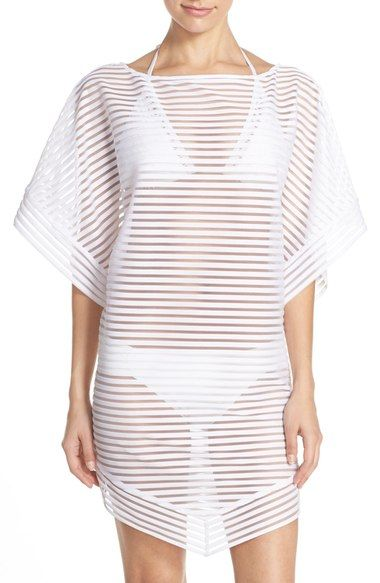 TED BAKER Shadow Stripe Mesh Cover-Up Caftan. #tedbaker #cloth #