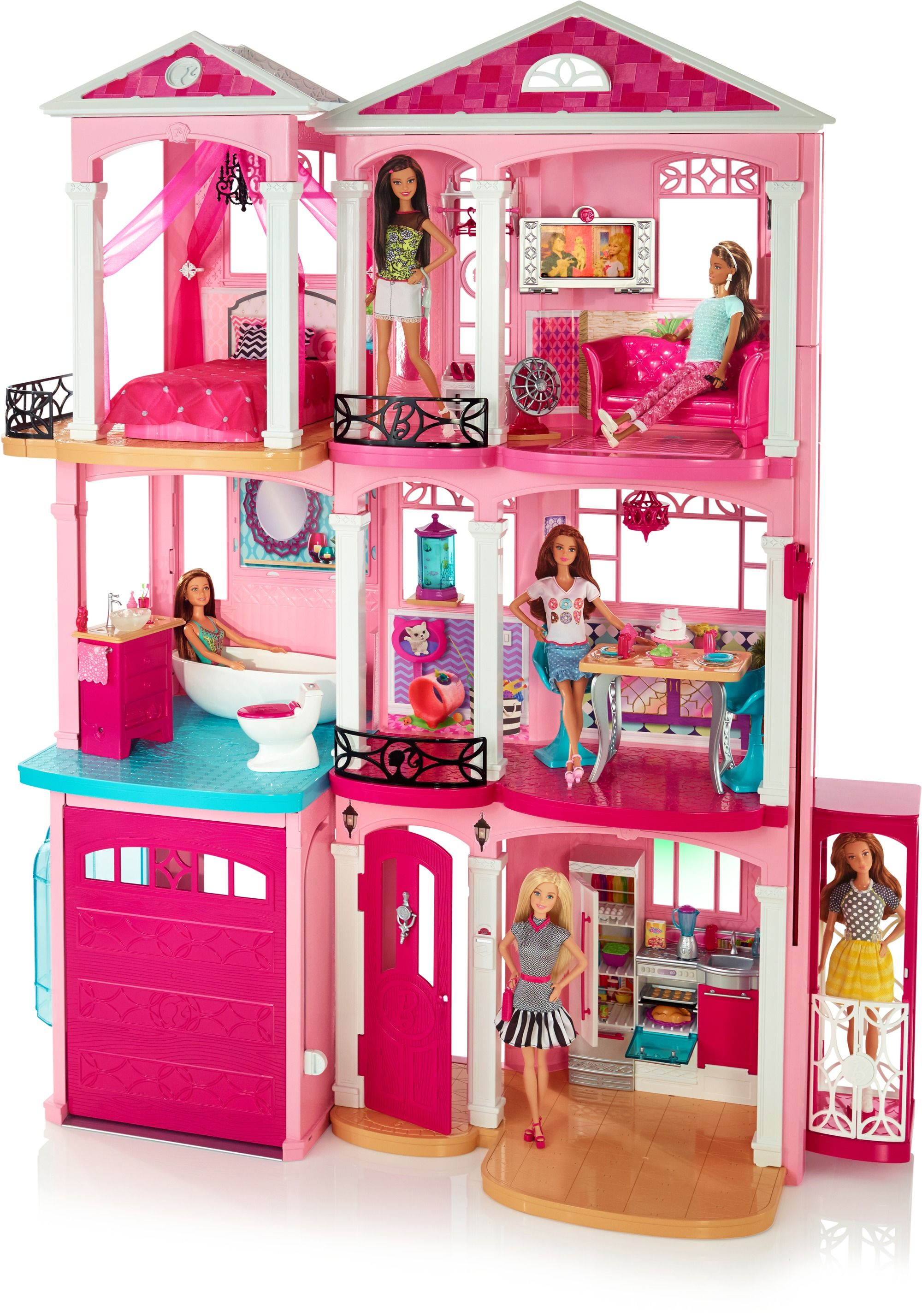 Barbie Dream House 2016 Replacement Parts In 2020 Barbie Doll House Barbie House Barbie Dream