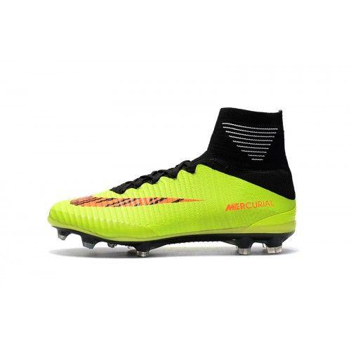 purchase cheap fa191 c4218 Scarpe Calcio 2017 Nike Mercurial Superfly V CR7 Verde Arancia Nuovi