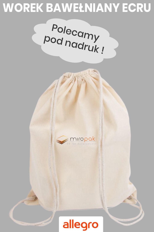 Plecak Bawelniany Worek Ecru 140g M2 Backpacks Bags Ecru