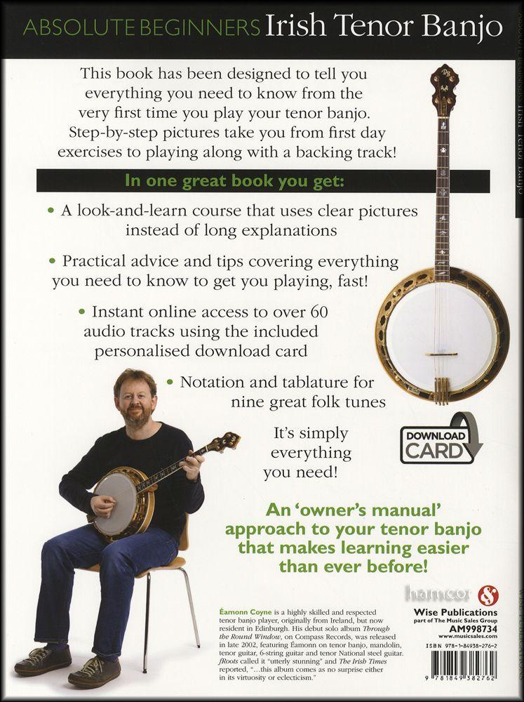 Absolute Beginners Irish Tenor Banjo 4-String TAB Book/DLC Audio ...