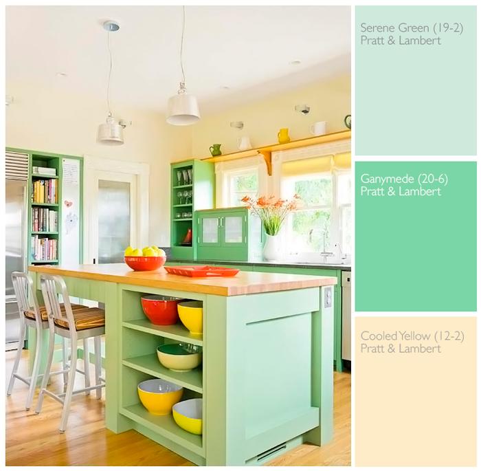 Una Paleta De Colores Fresca, Para Una Cocina Moderna Y Acogedora.