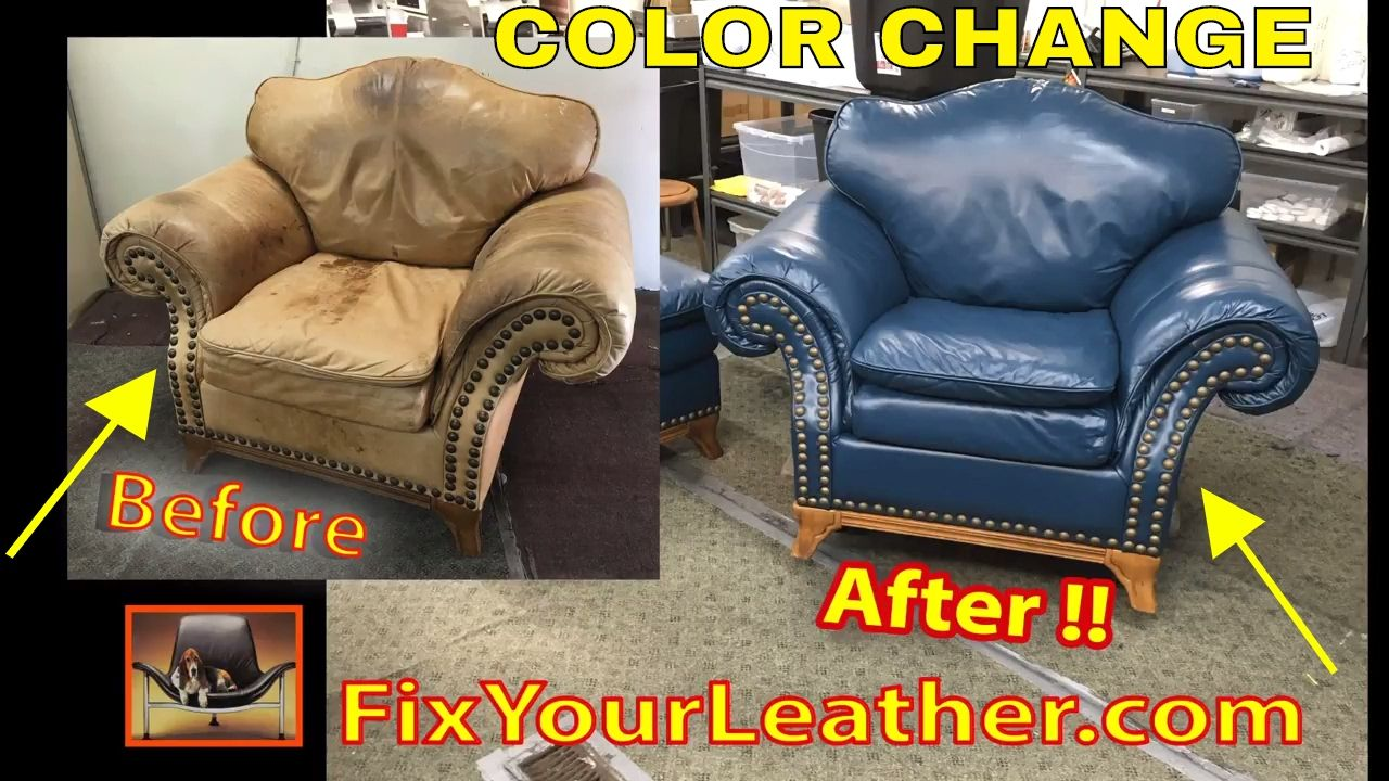 CHANGE the COLOR of LEATHER VIDEO !