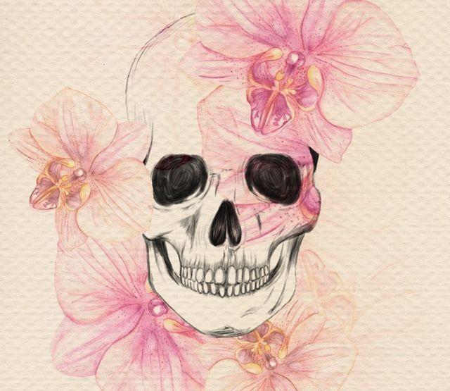 Картинки по запросу череп из цветов эскиз Красиво! Pinterest - Ebay Küchen Kaufen