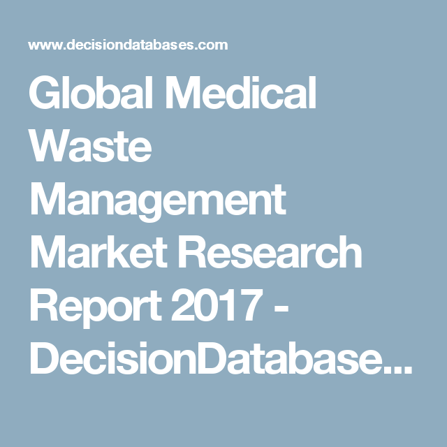 Global Medical Waste Management Market Research Report
