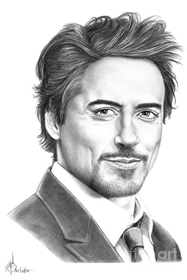 Robert Downey Jr Pencil Drawings Pencil Drawings Of Girls