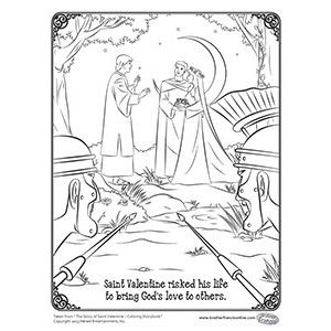 Celebrate Valentines Day with a free coloring page depicting this