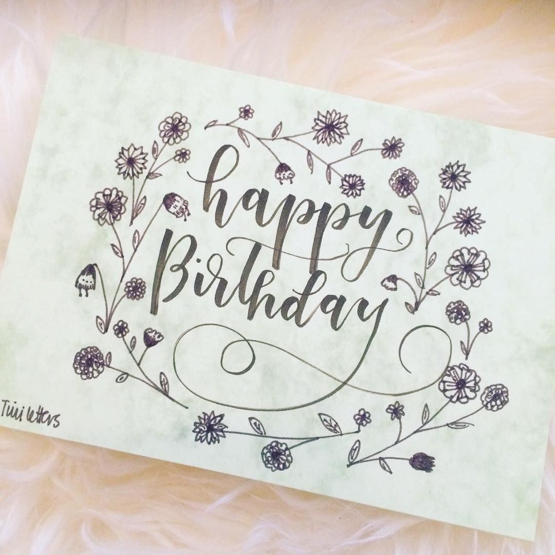 Lettering first kdo pinterest happy birthday cards