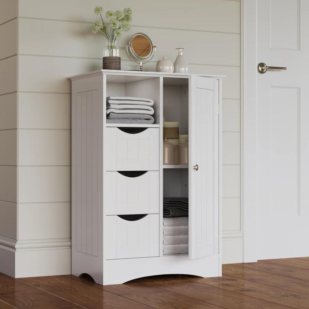 Ashland 1 Door 3 Drawer Floor Cabinet Riverridge Home Bathroom Standing Cabinet Tall Cabinet Storage Cabinet