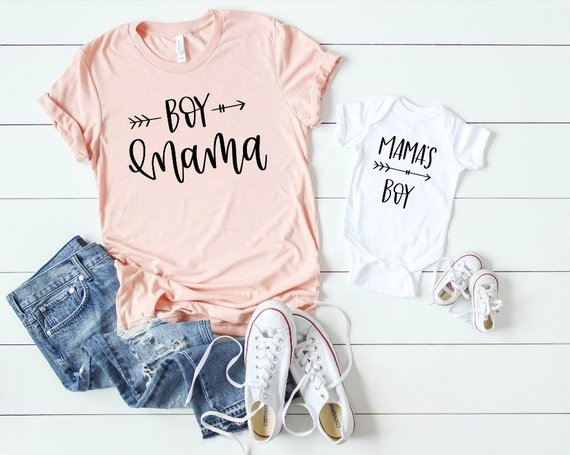 66e3ad2f9d1a Mommy and Me Shirts, Boy Mama, Mama's Boy, Boy Baby Shower Gift, Matching  Mommy and Me Outfits, New