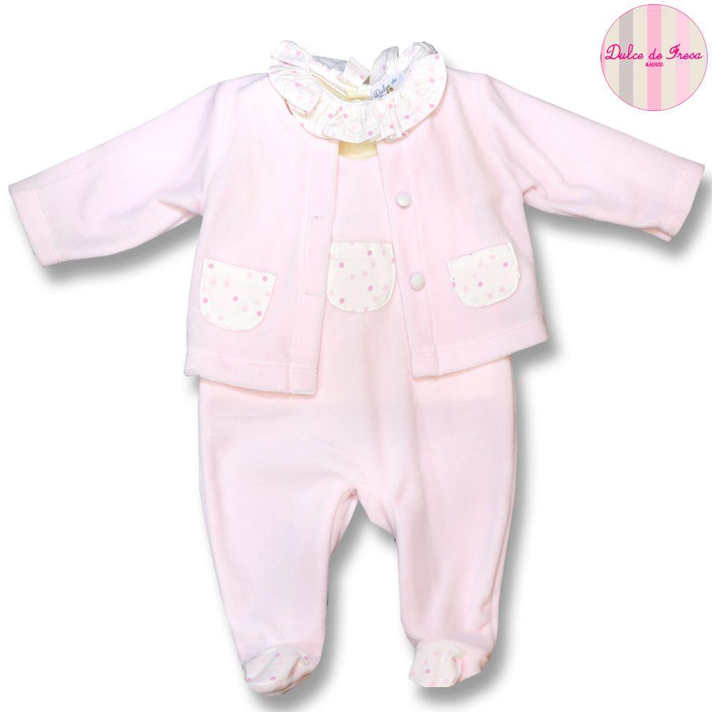 6c8bcee71c8 Conjunto compuesto de peto y chaqueta de terciopelo y camiseta de algodón.  XX. Dulce de Fresa Baby ...