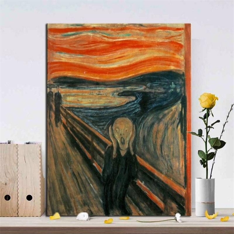 Edvard Munch The Scream Poster Wall Art Canvas Print Iconic Famous Painting Nordicwallart Com Famous Art Paintings Poster Wall Art Wall Art Canvas Prints