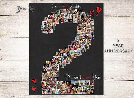 2 YEAR ANNIVERSARY, 2nd Anniversary Gift Photo Collage