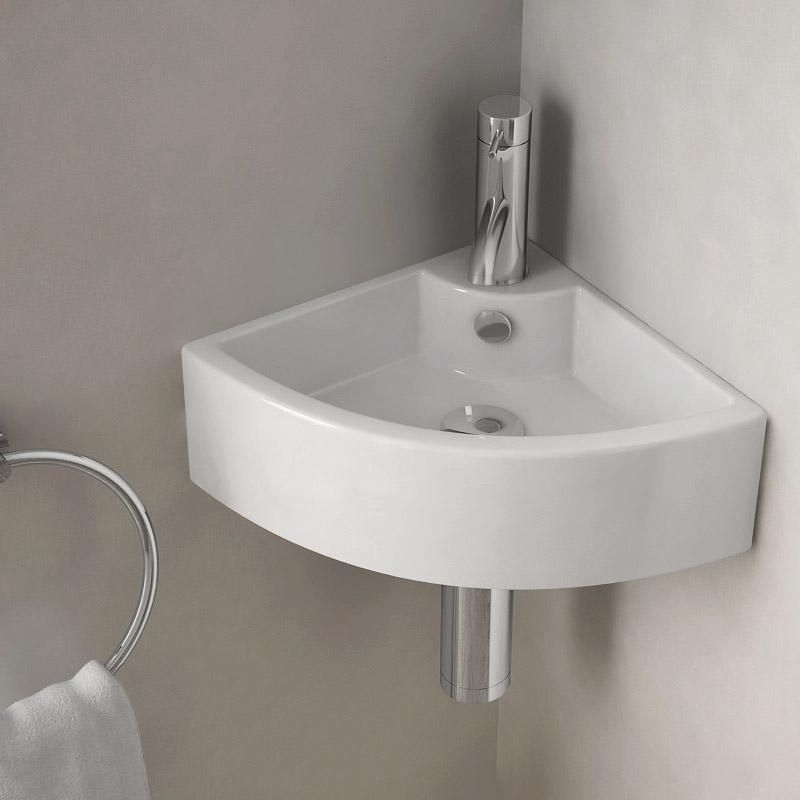 Lave Mains D Angle Suspendu 44x31 Cm Ceramique Pure Lave Main Angle Lave Main Lave Main Toilette