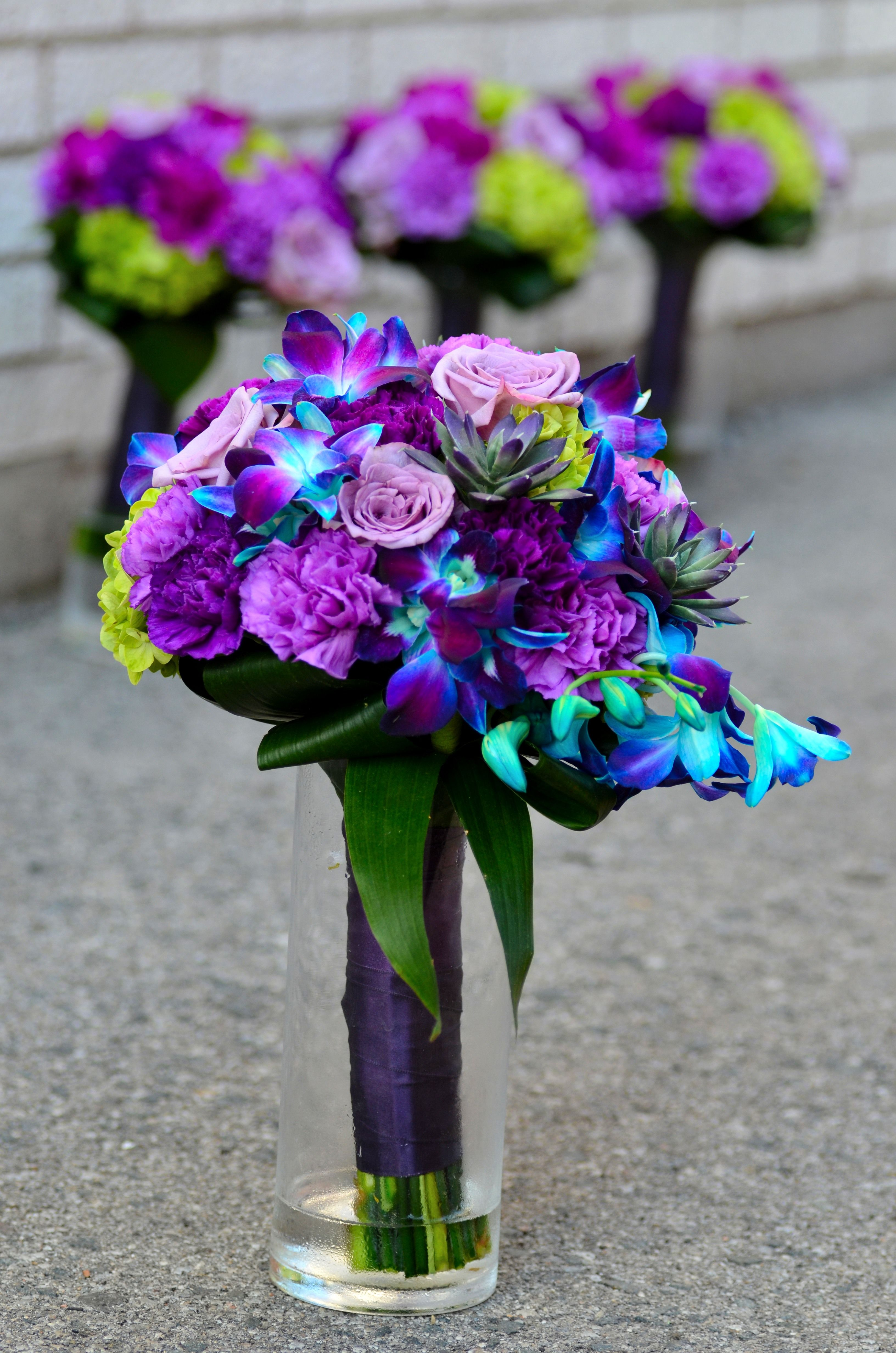 Purple and Blue Bouquet | I\'m getting married! :) | Pinterest ...