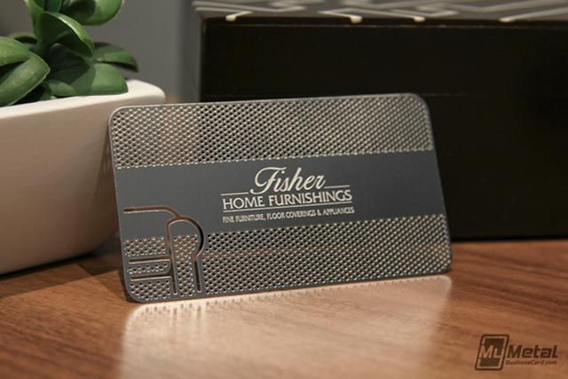 Beautiful metal business card with round corners, created for ...