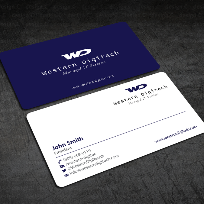 Create a new business card for western digitech by designc land create a new business card for western digitech by designc colourmoves