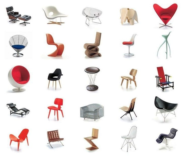 Iconic chairs and their designers Quiz By chloeforsyth