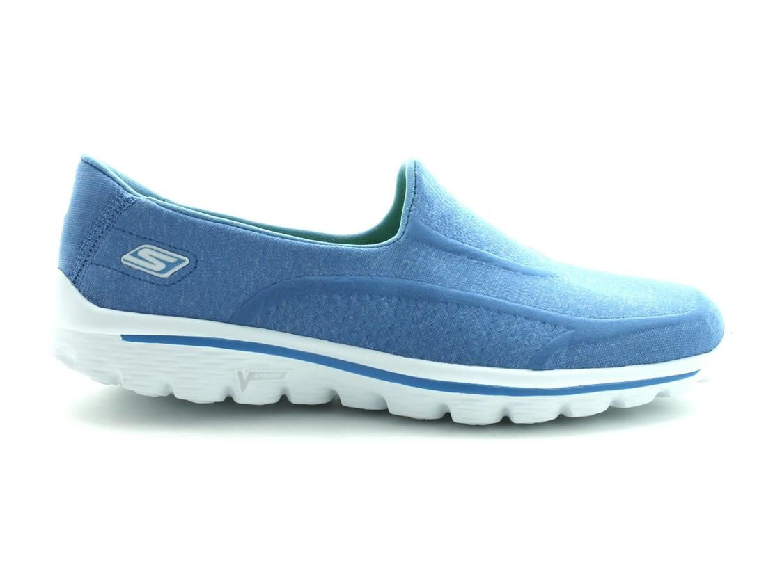 zapatillas skechers go walk azul claro Skechers