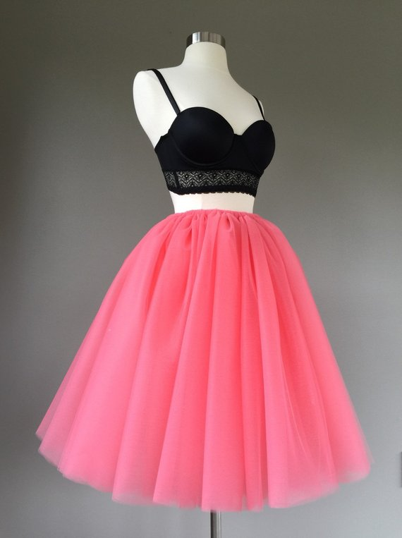 0dae4f41bb Tulle skirt- adult tutu, coral tutu- coral tulle skirt- Adult Bachelorette  or engagement tutu, photo