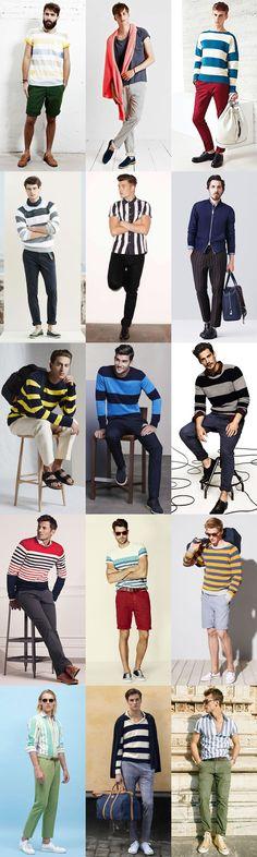Men's Bold Coloured Stripes - Spring/Summer Outfit Inspiration Lookbook